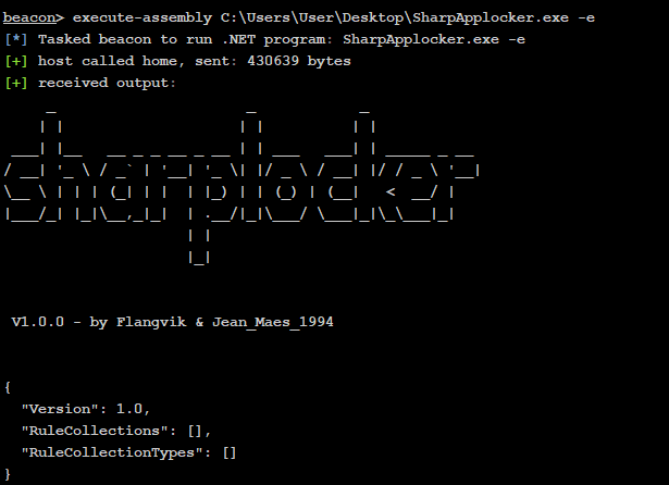 SharpAppLocker – C# Port Of The Get-AppLockerPolicy PS Cmdlet