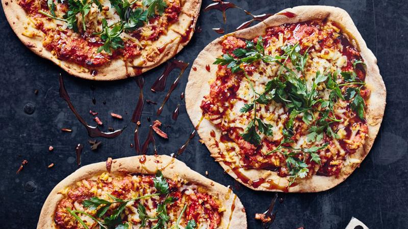 Halloumi pizzas