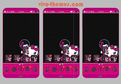 Hello Kitty Black Pink Theme For Vivo Android