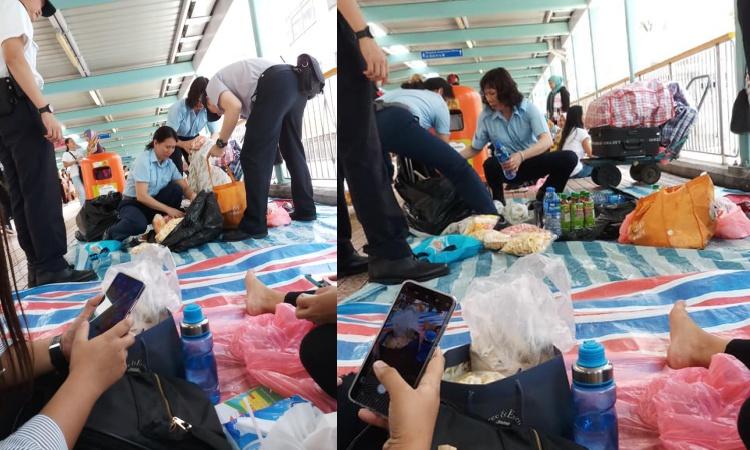 Lapak Dagangan Milik BMI di Jembatan Mong Kok dirazia Petuga Imigrasi Hong Kong