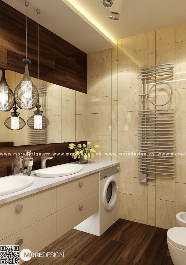 Thiết kế phòng tắm và vệ sinh sang trọng và tiết kiệm diện tích