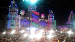 नवरात्रि मे राजवाड़ा पर अहमदाबाद (गुजरात) के कलाकारों ने बांधा समां तो राजगढ़ नाका का गरबा प्रांगण आकर्षक विद्युत सज्जा से हो रहा जगमग