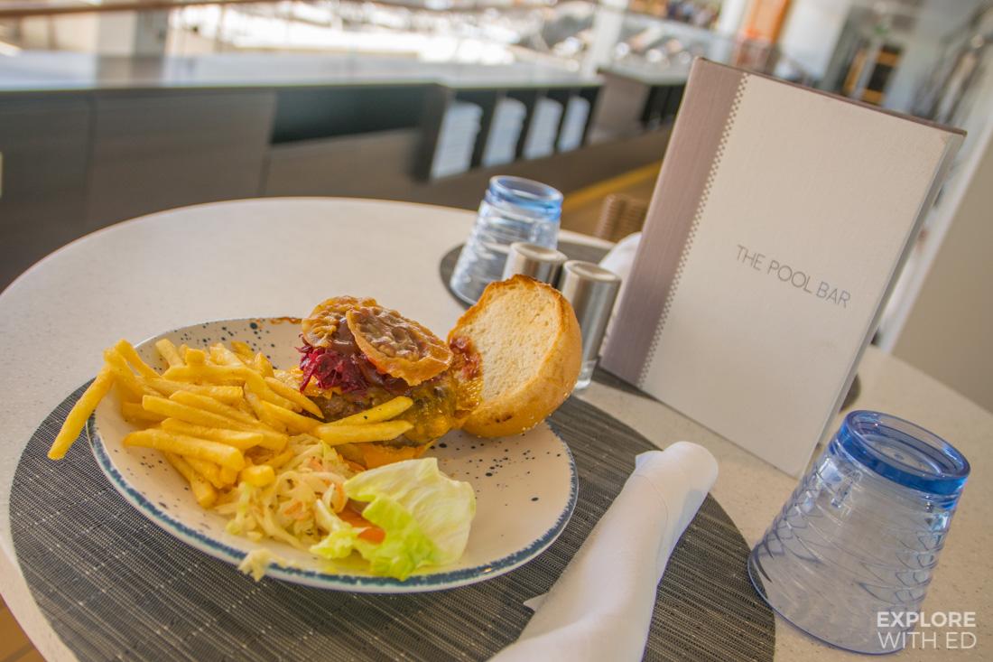 The Viking Burger from the pool bar on Viking Sea