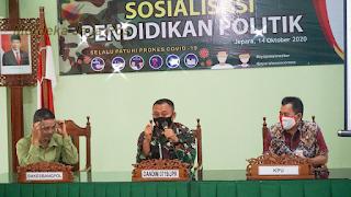 Dandim 0719/Jepara Pengisi Materi Sosialisasi Pendidikan Politik