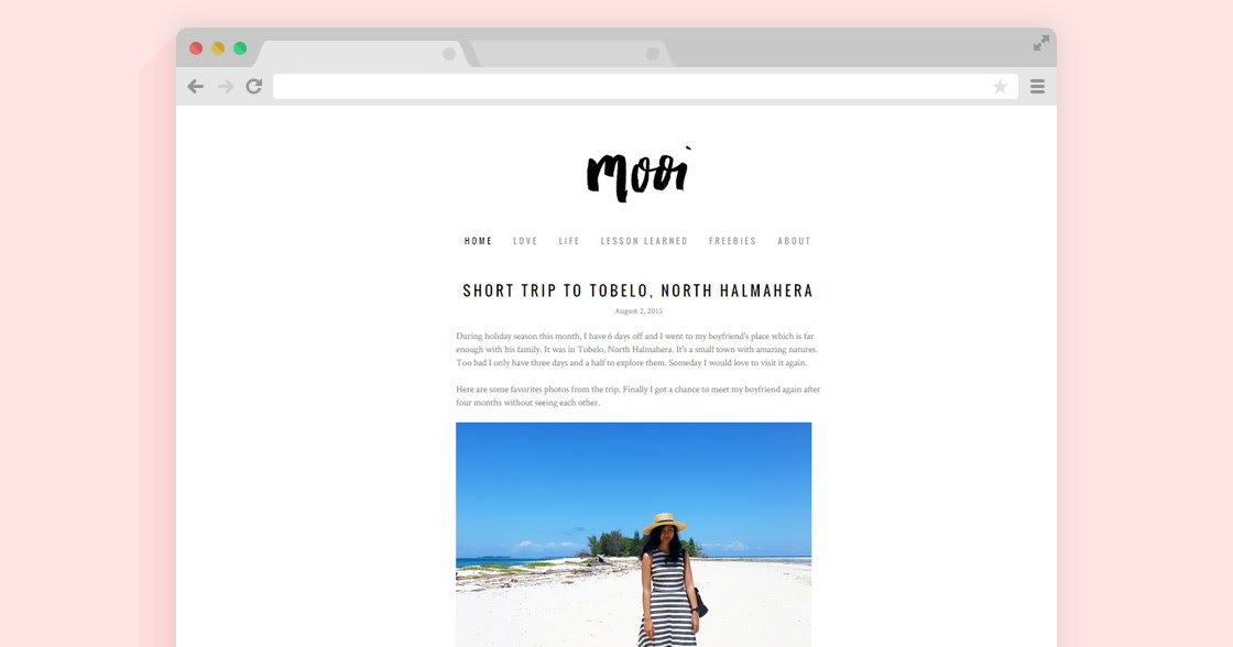 how to create blogspot template - mooi free minimalist blogger template