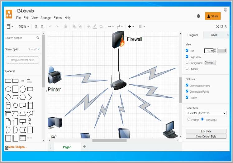 draw.io :  Επεξεργαστής διαγραμμάτων