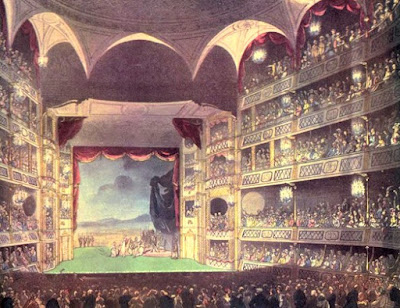 Theatre Royal, Drury Lane, from The Microcosm of London Vol 1 (1808)