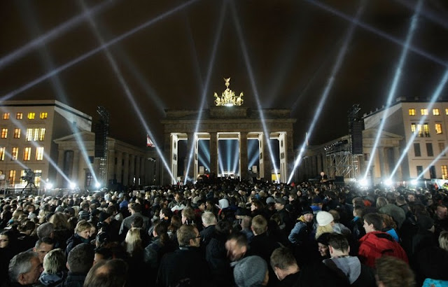 Portão de Brandemburgo no Natal em Berlim