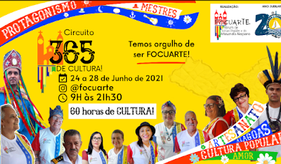 Circuito 365 de Cultura promete ser a maior transmissão sobre cultura popular na história de Alagoas