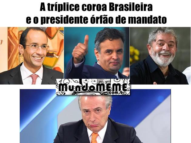 A tríplice coroa Brasileira e o presidente órfão de mandato