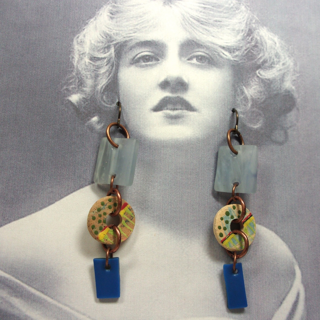 Confetti & Glass Earrings