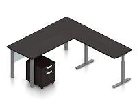 ergonomic l shaped desk