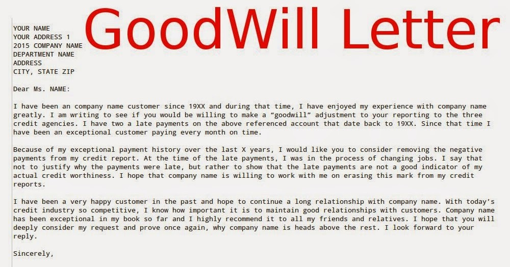 forgiveness removal, credit warriors, credit card, for credit, for creditors authorized user, on goodwill removal letter template