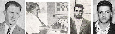 Algunos de los participantes en el I Torneo Internacional de Ajedrez Lugo 1957