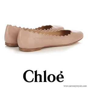 Countess Sophie wore CHLOÉ Lauren scallop edged leather flats