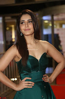 Raashi Khanna in Dark Green Sleeveless Strapless Deep neck Gown at 64th Jio Filmfare Awards South ~  Exclusive 113.JPG