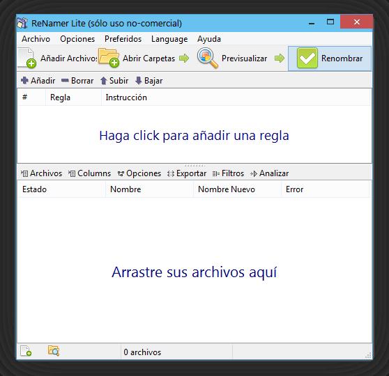 Renamer 6.5 + Portable [Cambiar la extensión de varios archivos a la vez][Descarga + Tutorial]