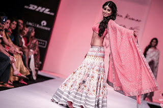 Shriya Saran walks the ramp for Shravan Kumar at LFW Winter-Festive