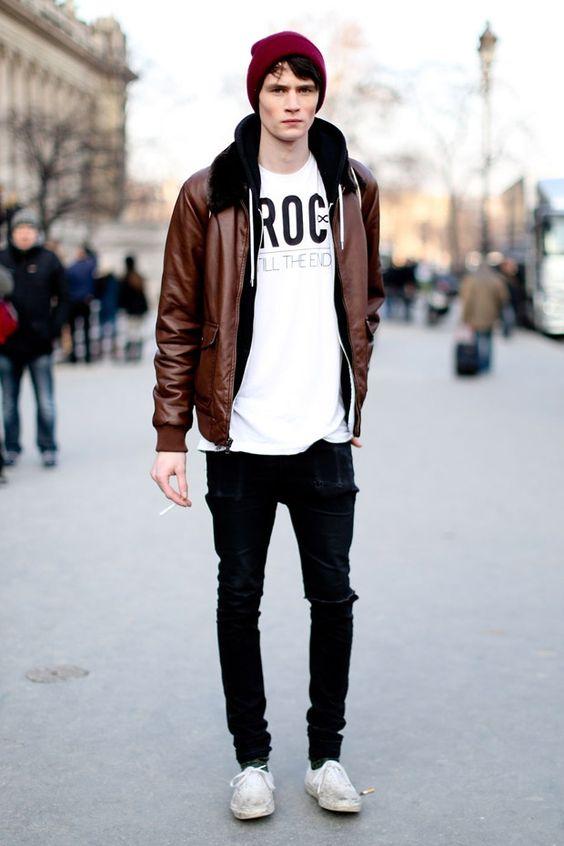 jaqueta marrom masculina look