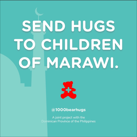 1000 Bear Hugs for Marawi Children