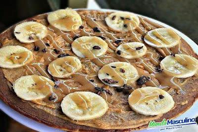 Panqueca de Banana Com Pasta De Amedoim