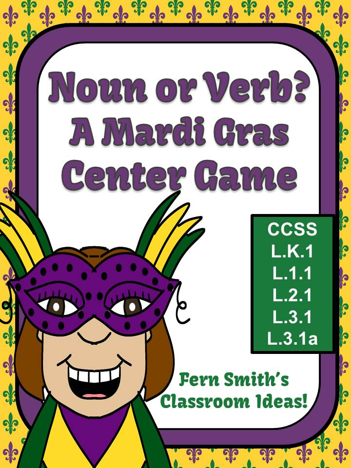 Fern Smith's Noun or Verb A Mardi Gras Celebration Packet