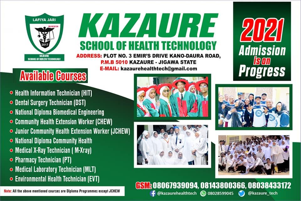Kazaure School of Health Form 2021/2022 | Diploma & Cert.