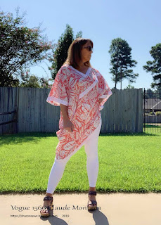Sharon wears Vogue 1566, OOP a 1985 Claude Montana pullover top,
