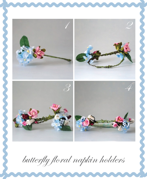 Butterfly Floral Napkin Holder step one by Torie Jayne