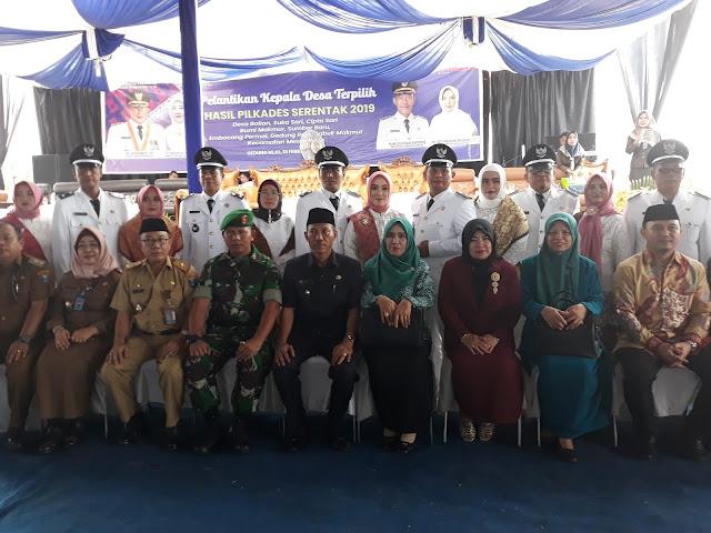 Wabup OKI Lantik 8 Kades Terpilih Kecamatan Mesuji Raya