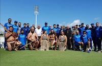 भारतीय टीम का न्यूजीलैंड में पारंपरिक स्वागत, दूसरा वनडे बे ओवल