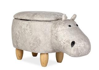 pouf hippopotame