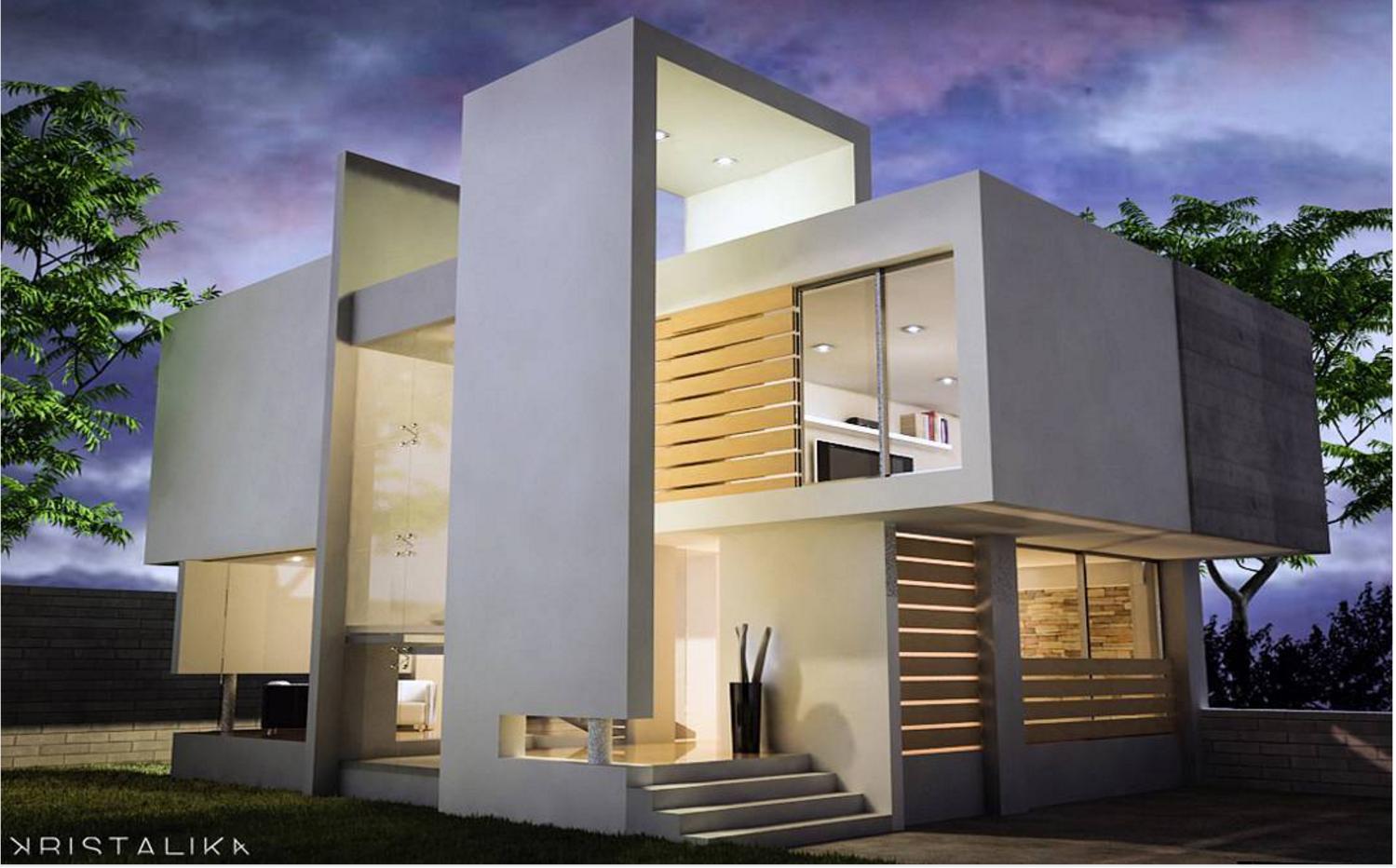 101 planos de casas vivienda con un dise o conceptual for Vivienda minimalista planos