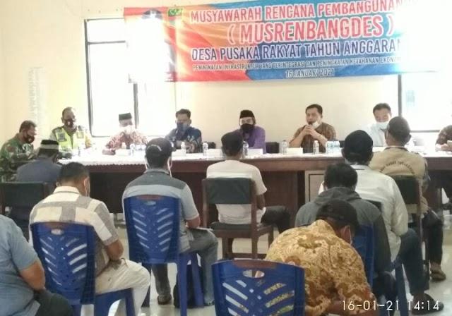 Kades Pusaka Rakyat Pimpin Acara Musrenbang Desa TA 2022, Ini Pesan Abd.Wahid