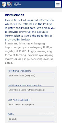 Philippine National ID Application Online