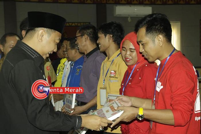 11 Parpol Lampung Utara Peserta Pemilu 2014 Terima Dana Bantuan