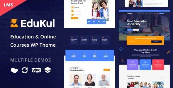 Edukul v2.0 Online Courses WordPress Theme Free Download Nulled