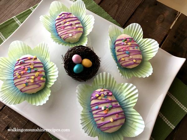 Mini Easter Egg Cakes   Adorable Easter Dessert   Spring Dessert Recipe from Walking on Sunshine