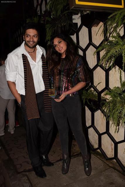 Richa-Chadda-Ali-Fazal-at-Actor-Varun-Sharma-Birthday-Party