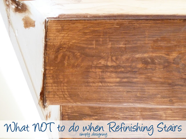 What NOT to do when Refinishing Stairs | step by step tutorial for refinishing stairs complete with what NOT to do's! | Simply Designing | #diy #homeremodel #stairs #homeimprovement #tutorial