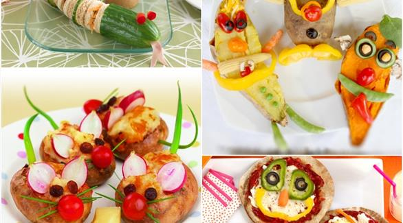 أفكار مميزة لتزيين أطباق طعام الأطفال