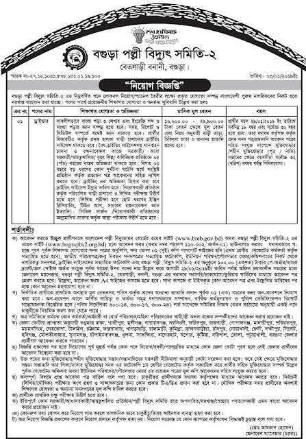 Bangladesh Rural Electrification Board (BREB)Job Circular 2019