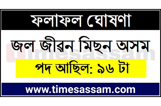 Jal Jeevan Mission Assam Result 2020