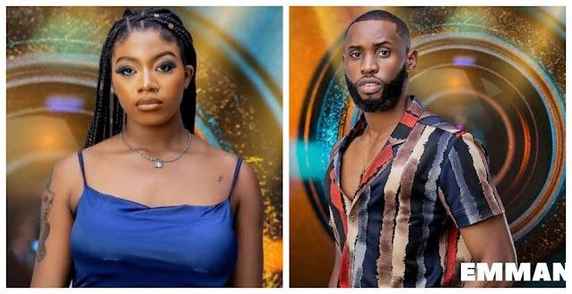 Emmanuel You dey lie fire– Angel Slams Emmanuel after he denied flirting with her in the house  (Video)