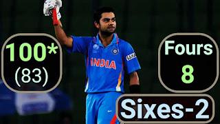 Virat Kohli 100* vs Bangladesh | 5th ODI Hundred Highlights