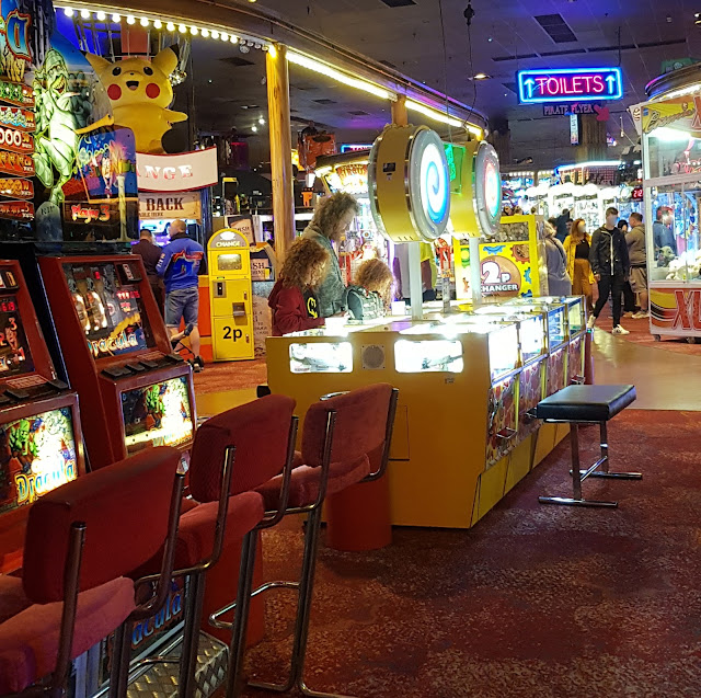 Coral Island Blackpool review 2p machines glowing