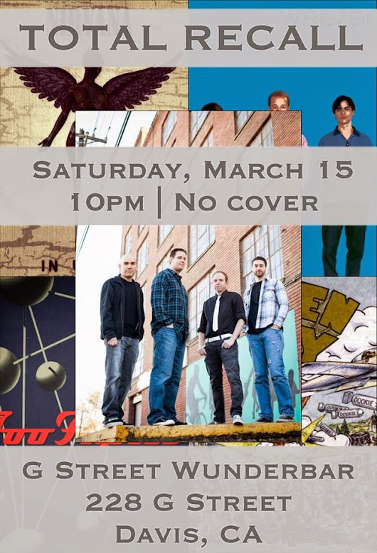 G St WunderBar in Davis - Saturday, March 15th!