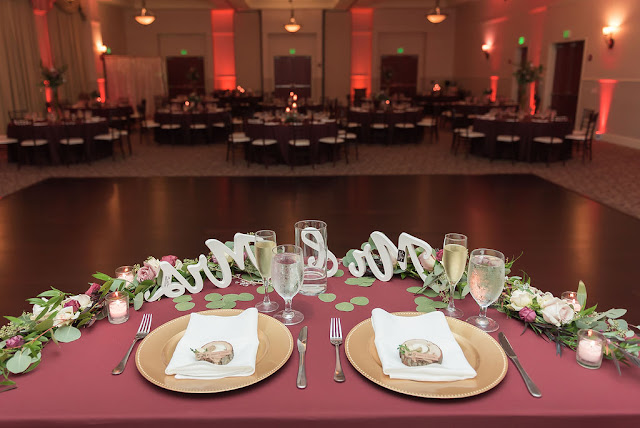 sweetheart table in reception