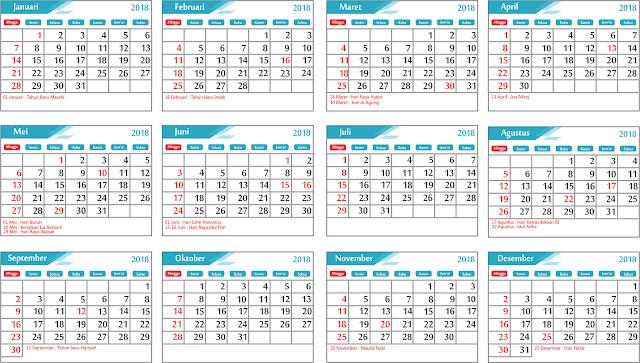Tampilan Kalender Lengkap