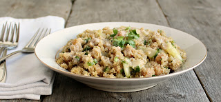Quinoa and Chickpea Salad with Lemon Tahini Dressing